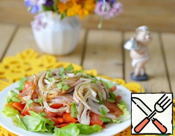 Semi-smoked Sausage Salad with Vegetables Recipe