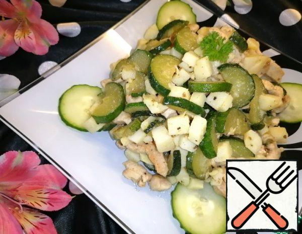 Salad with fried Cucumber Recipe