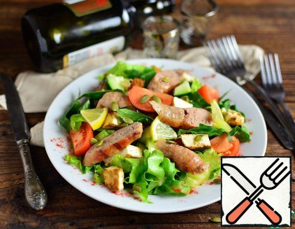 Grilled Cheese and Sausage Salad Recipe