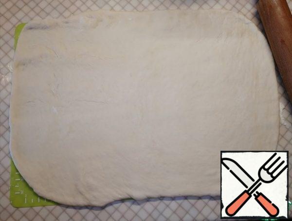Roll each part into a rectangular shape.