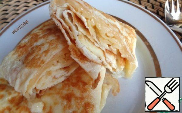Egg Pancakes with Cheese Recipe