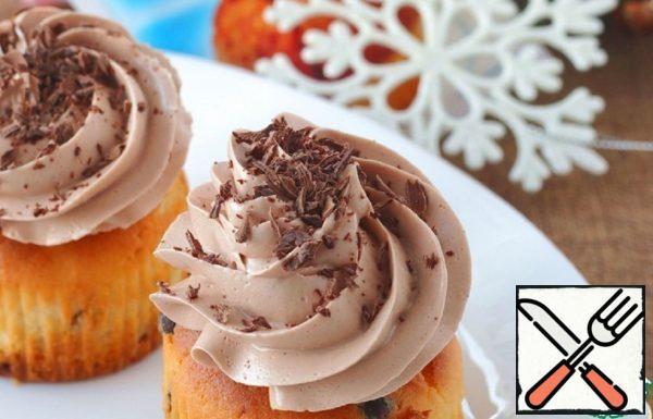 Cupcake with Chocolate and Cocoa Cream Recipe