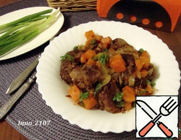 Chicken Liver with Pumpkin Recipe