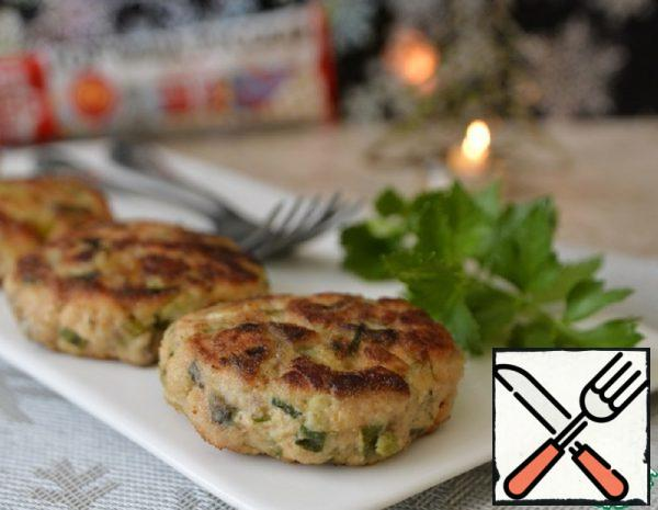 Minced Pink Salmon Cutlets with Mustard Recipe