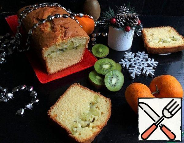Curd Cake with Kiwi Recipe