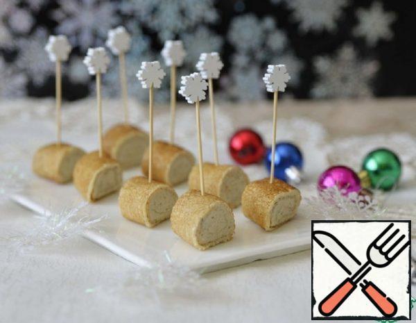 Pancake Rolls with Mackerel Mousse Recipe