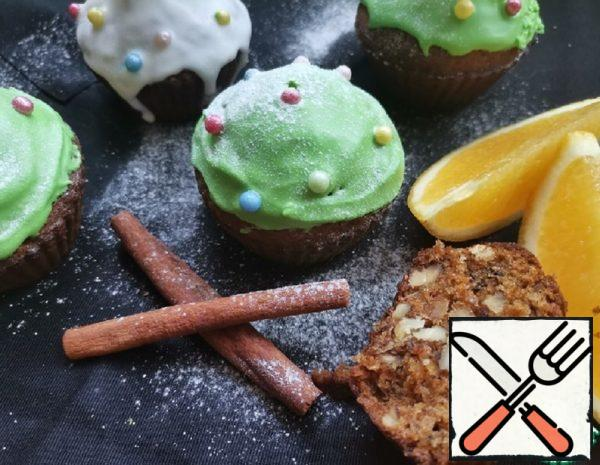 Carrot Muffins with Walnuts and Raisins Recipe