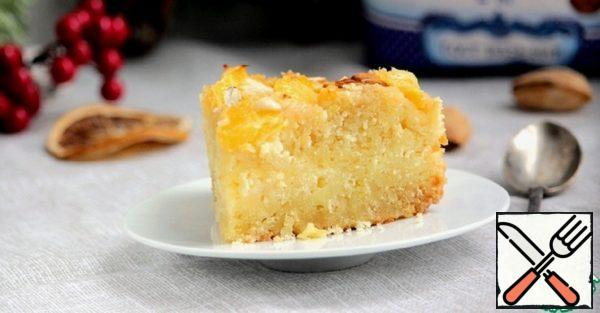 Almond Cake with Cottage Cheese and Orange Recipe