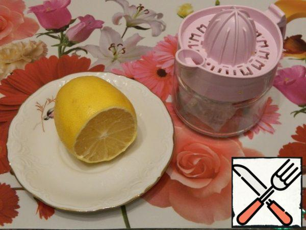 Extract the juice from the lemon.