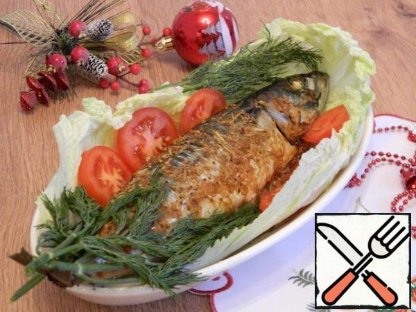 Bake at 180 degrees for 30 minutes. The fish is ready.