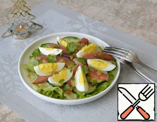 Salmon Salad with Mustard Dressing Recipe