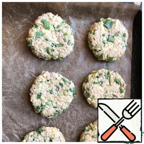 With wet hands, roll the dough into serving balls and flatten them with your hands.