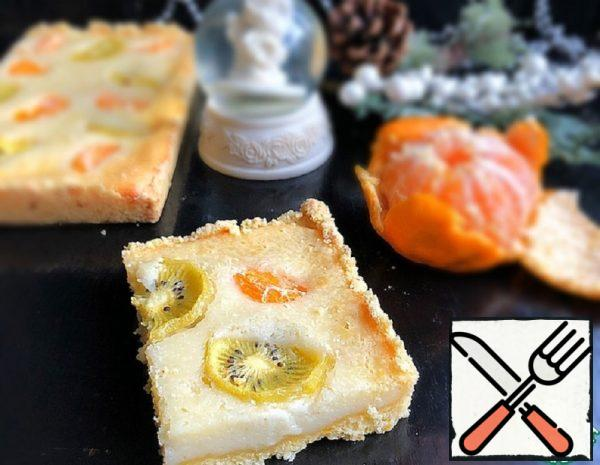 Sour Cream Pie with Tangerines and Kiwi Recipe