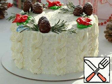 Place the cake in a pastry ring and put it in the refrigerator for at least 2-3 hours.