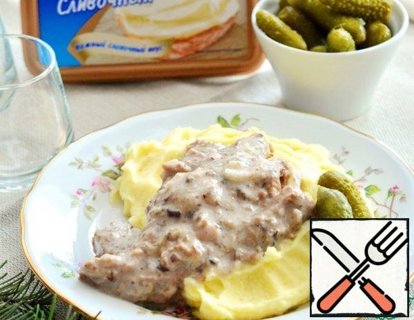 Beef with melted Cheese and Mushrooms Recipe