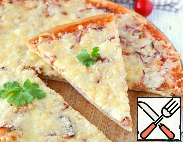 Pizza with Smoked Bacon Recipe