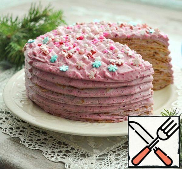Pancake Cake with Curd-Cherry Cream Recipe