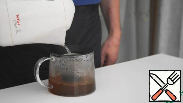 Make some tea. When brewed, cool to room temperature.