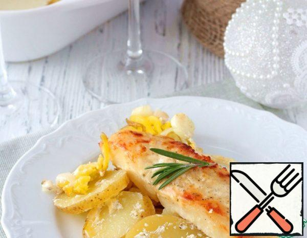 Halibut baked with Potatoes in the Oven Recipe