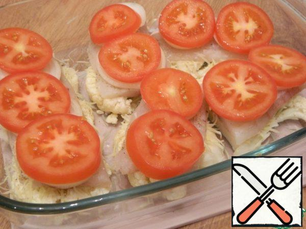 Following a number of slices of tomato.