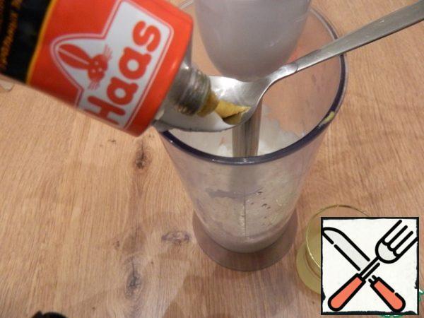 Add mustard, sugar, salt, lemon juice and beat again with a blender until smooth.