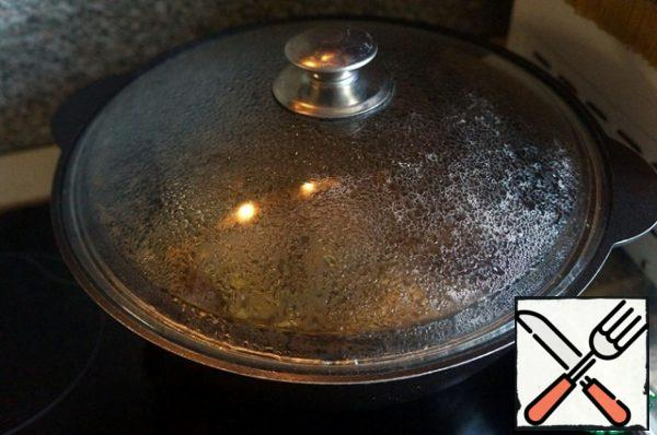 Bring to a boil, cover and cook over low heat for 3 hours.