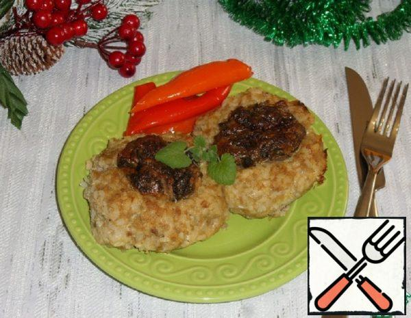 """Chicken and Rice """"Nests"""" with Mushrooms Recipe"""