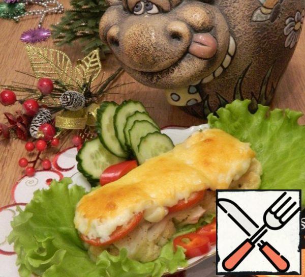 Fish under a Fur Coat with Cauliflower Recipe