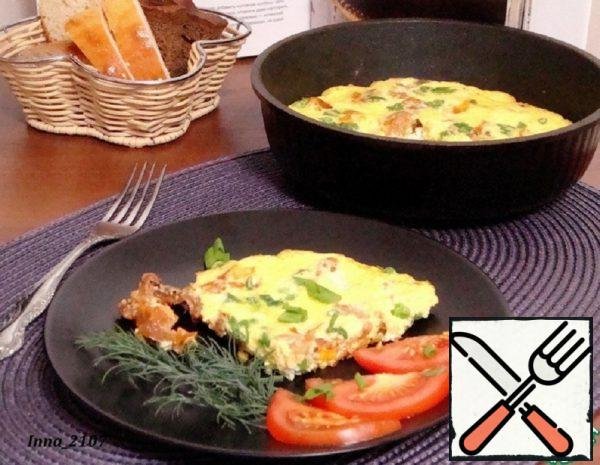 Omelette with Sun-Dried Tomatoes and Green Peas Recipe