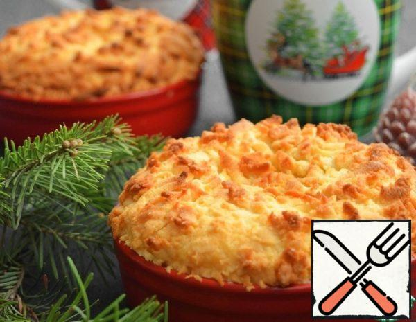 Portioned Grated Pie with Sour Cream Filling Recipe