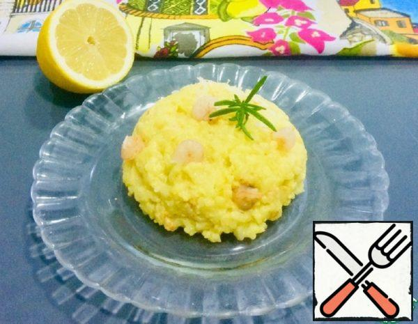 "Risotto ""Sunny"" with Lemon and Shrimp Recipe"