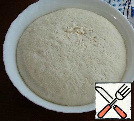 By this time, the dough was perfect. Knead it and divide it into two parts - 1/3 and 2/3.