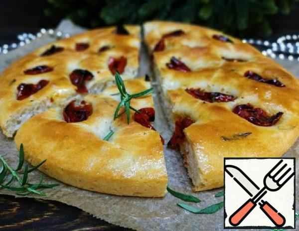 Focaccia with Rosemary and Sun-Dried Tomatoes Recipe