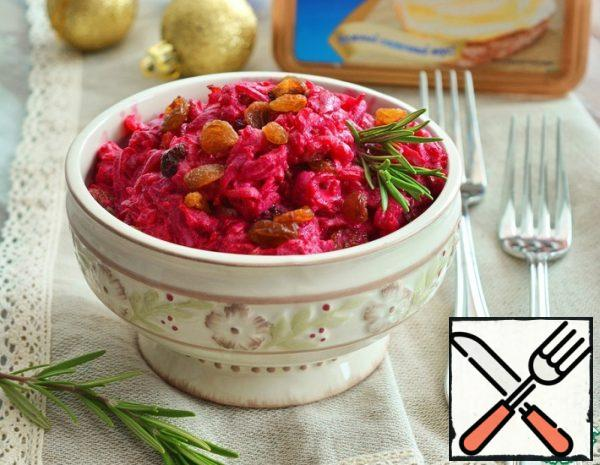 Beetroot Salad with Raisins and Bacon Recipe