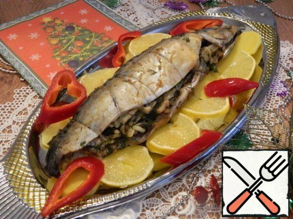 Serve the fish, decorating to your liking.