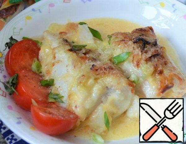 Baked Sea Tongue with Cheese Recipe