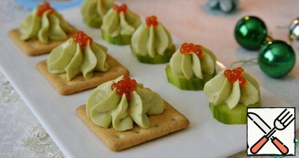 Appetizers with Salmon and Avocado Mousse Recipe