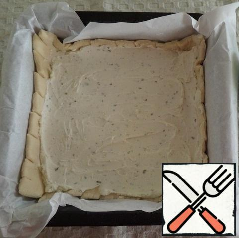 Evenly distribute the cheese using a spoon or silicone spatula.
