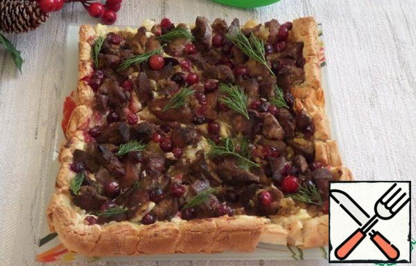 Open Pie with Liver and Cheese Recipe
