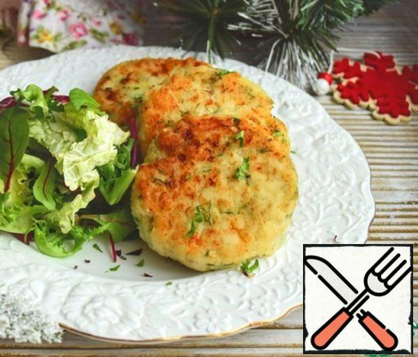 Fish Cutlets with Melted Cheese Recipe