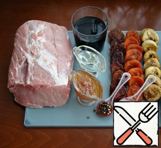 For our festive meat, we will prepare all the necessary ingredients.