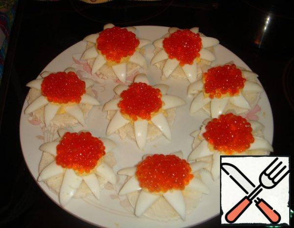 Flowers with Red Caviar Recipe
