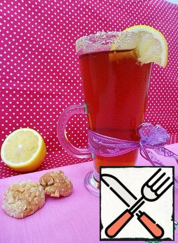 Strain the tea, add sugar, rum and mix well. Pour into glasses, serve with lemon slices. You can, if desired, pour the drink into a thermos to keep it warm, or vice versa-put it to cool in the refrigerator and serve cold with ice cubes!