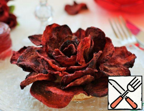 Rose of Beetroot Chips Recipe
