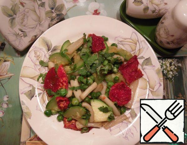 Warm Salad with Squid and Zucchini Recipe