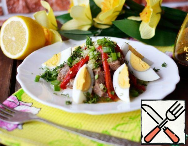 Salad with baked Pepper Recipe