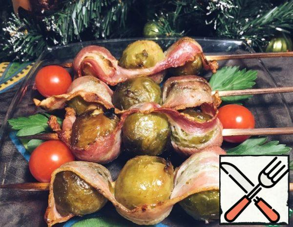 Brussels Sprouts baked with Bacon Recipe