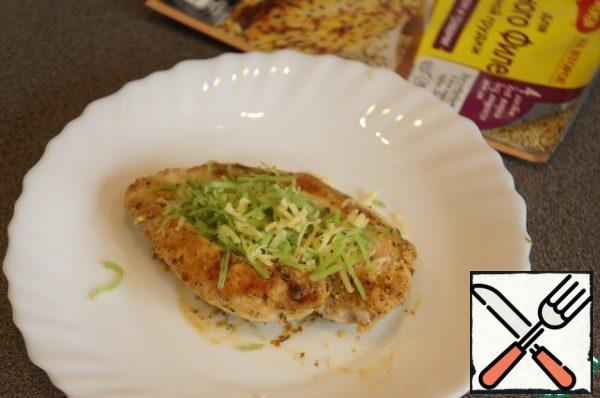 """If desired, lightly brush with Dijon mustard, it goes very well with chicken. Fill the """"boat"""" with the cheese mixture."""