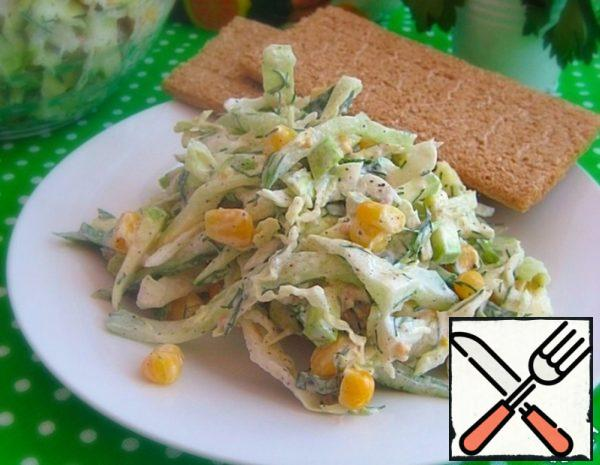 Vegetable Salad with Zucchini and Corn Recipe