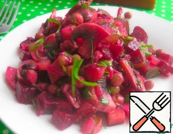 "Salad ""Beetroot Champignon"" Recipe"